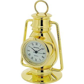Gift Time Products Hurricane Lamp Miniature Clock - Gold