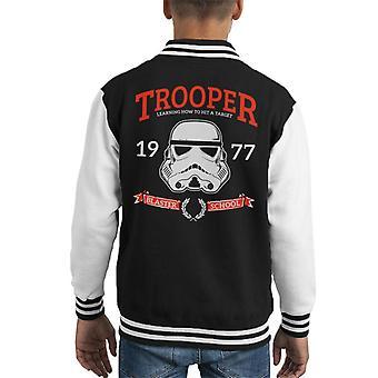 Opprinnelige Stormtrooper Blaster skolen barneklubb Varsity jakke