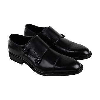 Unlisted by Kenneth Cole Learning Piano Mens Black Dress Monk Strap Shoes