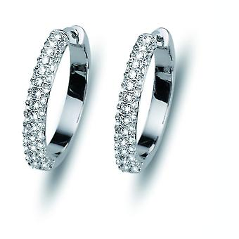 Oliver Weber Post Earring Brill Rhodium Crystal