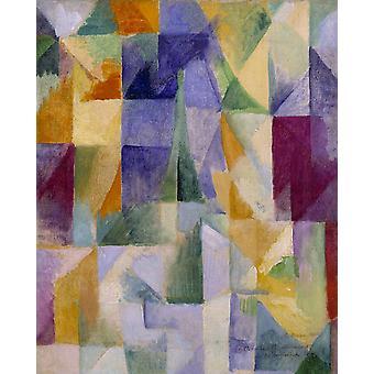 Одновременная Windows, Роберт Delaunay, 50x40cm