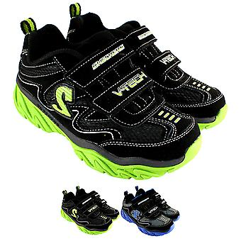 Unisex الاطفال Skechers خشنة دوكس مزدوجة أحذية رياضية منخفضة المدى المملكة المتحدة 9.5-6