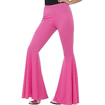 Расклешенные брюки, дамы, розовый