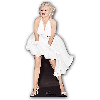 玛丽莲梦露经典白色礼服炸毁 - 生活大小的纸板切口 / 站立