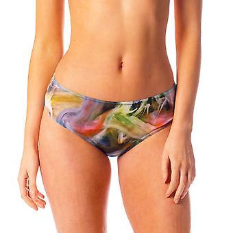 Tahiti tan through high waisted bikini brief hd print