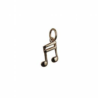 9ct Gold 11x9mm Semi Quaver musical note Pendant or Charm