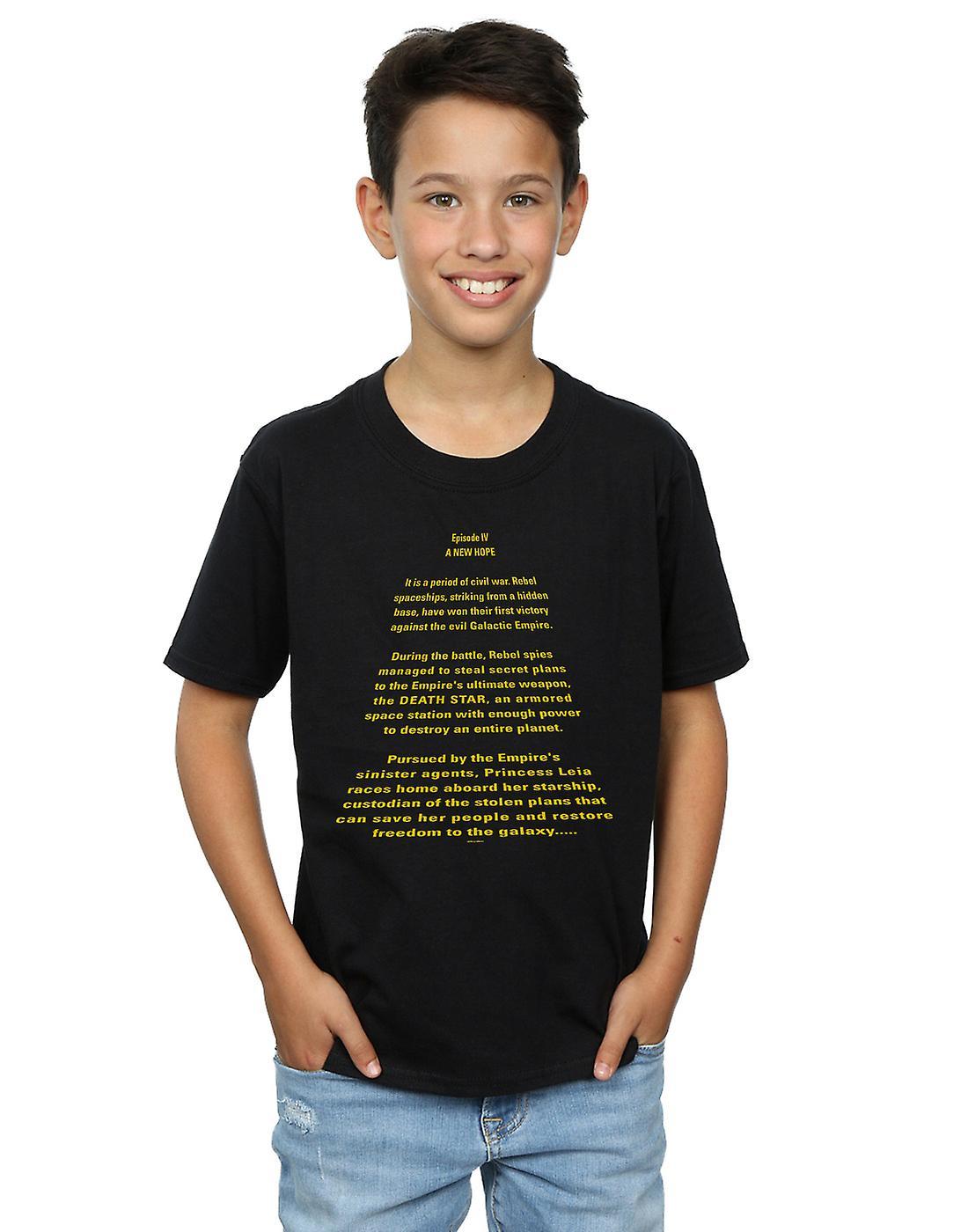 Star Wars Boys A New Hope Opening Crawl T-Shirt