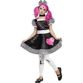 Brudt dukke barn kostume