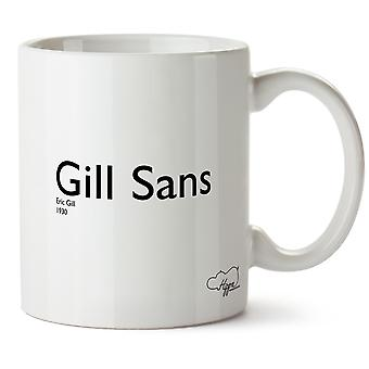 Hippowarehouse Gill Sans Eric Gil 1930 Printed Mug Cup Ceramic 10oz