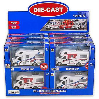 Campingbil Holiday Camper Car Vehicle Die-Cast 13cm Holiday Pullback