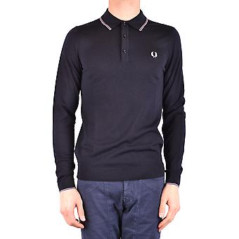 Fred Perry Ezbc094045 Män's Blue Wool Polo Shirt