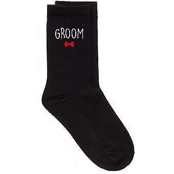 Groom Black Calf Socks