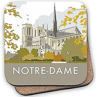 Notre - Dame Paris cork backed drinks coaster  (se)