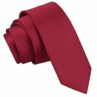 Burgundin Plain Satiini laiha solmio
