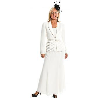 RONALD JOYCE Sukienka Garnitur 98117 Kości Słoniowej