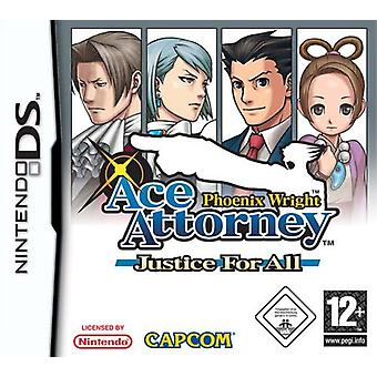 Phoenix Wright Ace Attorney - Justice for All (Nintendo DS) - Factory Sealed