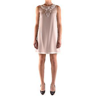 One Ezbc267009 Women's Beige Viscose Dress