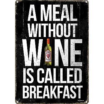 Grindstore un repas sans vin signe d'étain