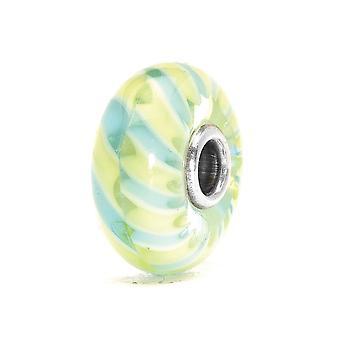 Trollbeads Light Blue Braid Silver & Glass Bead TGLBE-10011