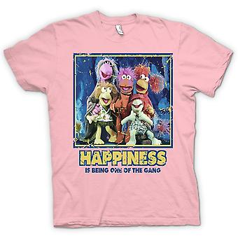 Womens T-shirt - Happiness Is Being One Of The Gang - Fraggle Rock inspired