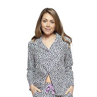 Cyberjammies 4185 vrouwen Laura Grey mix Animal Print katoen pyjama top
