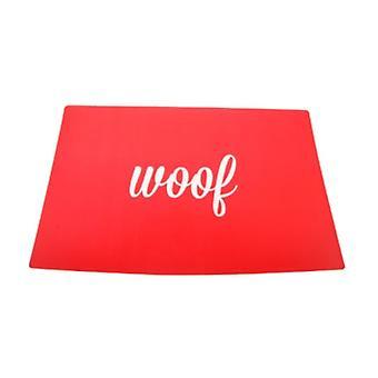 Woof Set de table rouge pour chiens