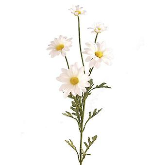 Artificial Silk Daisy Marguerite Spray Single Stem
