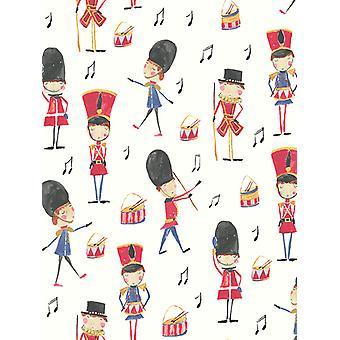 Drummer Boy Soldier wallpaper rood Arthouse 696003