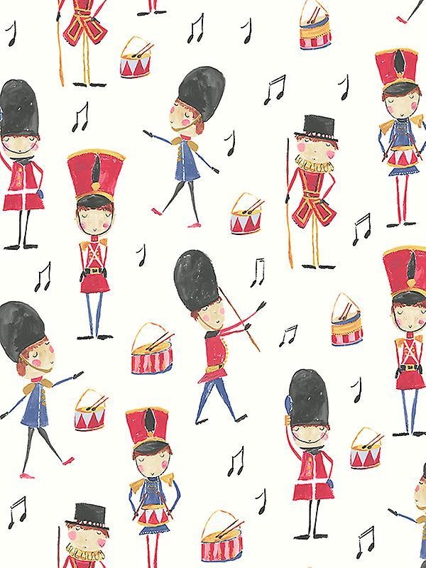 Drummer Boy Soldier Wallpaper Red Arthouse 696003