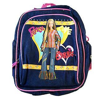 Малый рюкзак - Барби - джинсовая голубая новая школьная сумка 15985