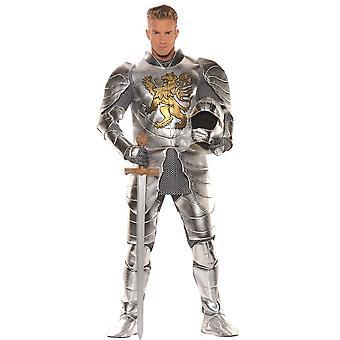 Metalen ridder volwassen kostuum