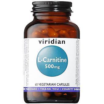 Viridian L-كارنيتين 500mg خضار قبعات 60 (017)