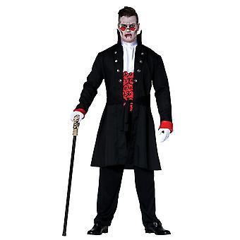 Miesten Halloween Count Dracula fancy mekko puku