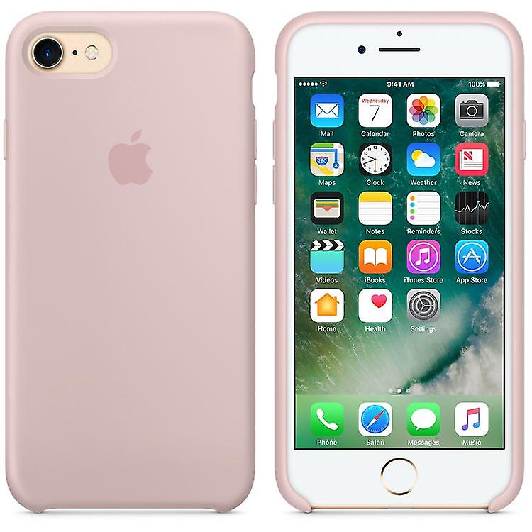 Original packaging Apple silicone Micro Fiber cover case for iPhone 8 / 7 - sand pink