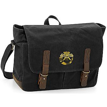 Duke Of Cornwall Light Infantry - Licenza dell'esercito britannico ricamato Waxed Canvas Messenger Bag