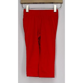 Slimming Options Leggings Elastic Waistband Pull-on Bright Red A408576