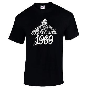 Men's 50th Birthday T-Shirt Menace Since 1969 Prezenty dla niego