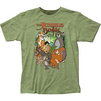 Księga dżungli Cover Men ' s zielony T-shirt