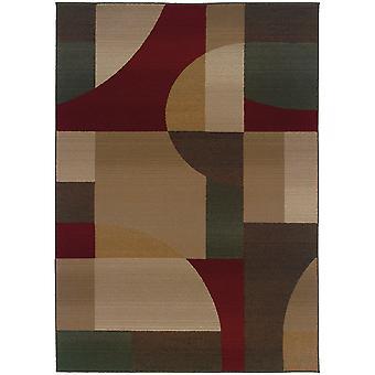 Genesis 5560d tan/brown indoor area rug rectangle 7'10