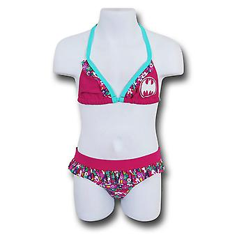 Batgirl Bloom Triangle Kids Bikini