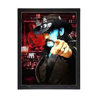 Glass vision-painting-art glass-Lemmy-Motorhead Design Per Siwmark