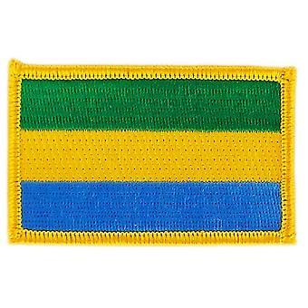 Patch Ecusson Brode Flag Gabongabonese Thermocollant insigne Blason
