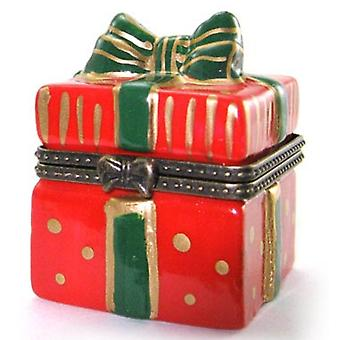 Christmas Xmas Red Gift Bow Box Trinket Box