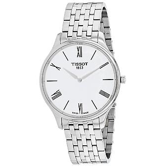 Tissot Men's Tradition Thin White Dial Watch - T0634091101800