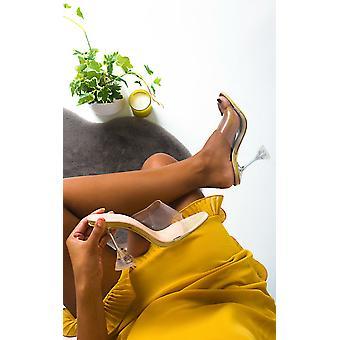 IKRUSH naisten Bethan mule perspex lausunto korko kengät