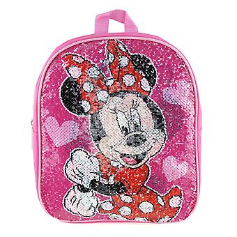 Small Backpack - Minnie Mouse - Reverse Sequin Pink 12