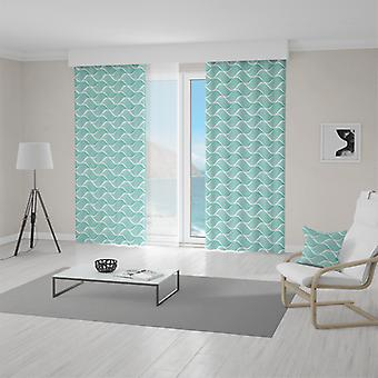 Meesoz Curtain - Endless Waves Turquoise