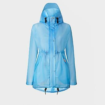 Hunter Original Ladies Hooded Raincoat Pale Blue