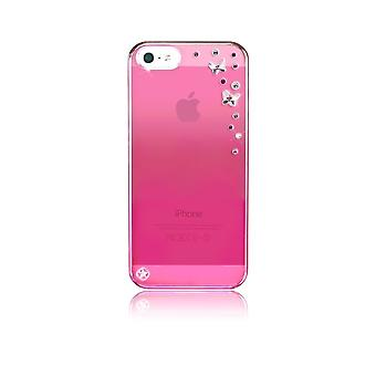 Hull For Iphone Se (2016) / 5s / 5 Pink Butterflies With Swarovski Crystals