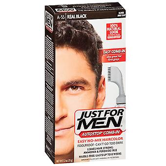 Just for men autostop haircolor, real black a-55, 1 kit